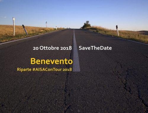 Vi aspettiamo a Benevento il 20 ottobre 2018