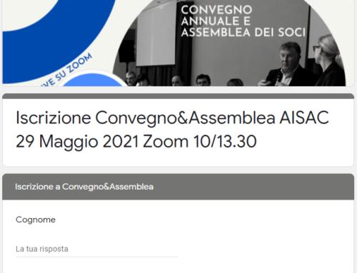 Iscrizione al Convegno AISAC 2021