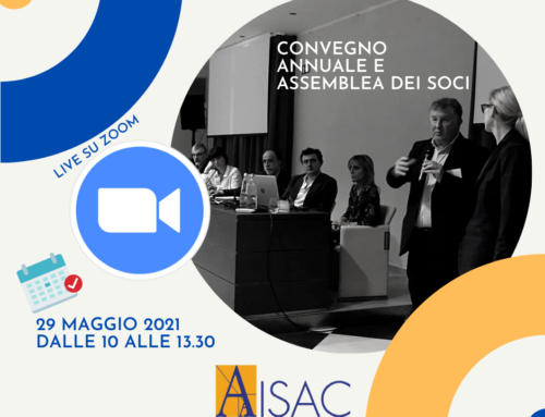 SAVE THE DATE: CONVEGNO E ASSEMBLEA AISAC 29.5.2021